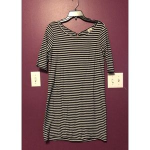 Free People Striped Keyhole Back Dress Size S